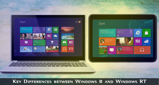 Diferențele dintre Windows 8 și Windows RT